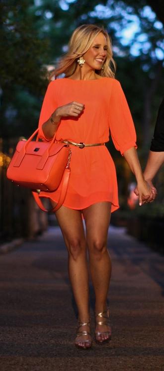 dress bright orange dress