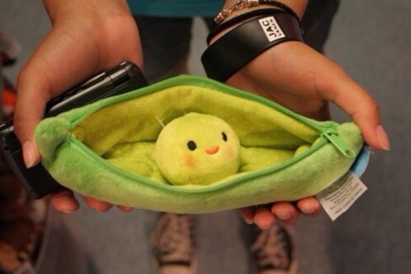 bag back to school pencil case green