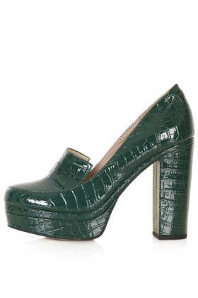 SALLY Teal Croc Loafers - Topshop USA