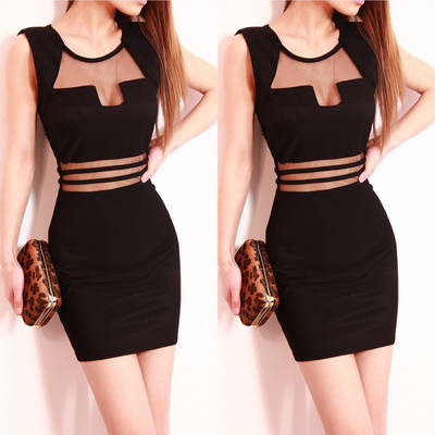 SEXY Fashion Sizzling Black Clubbing Club Wear Cocktail Party black Dress Slim-in Apparel & Accessories on Aliexpress.com