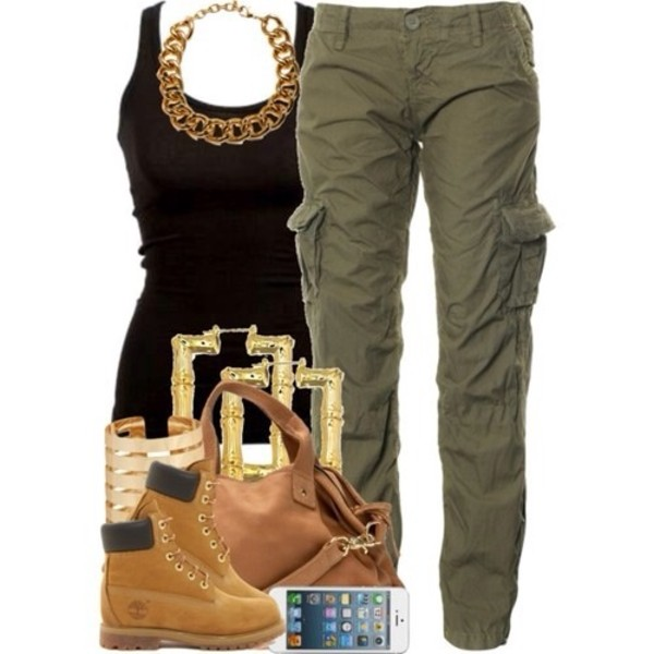 jeans jewels bag tank top shoes