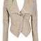 Clothing : jackets : 'kayley' beige studded leatherette jacket