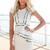 SABO SKIRT  Piped Peplum Dress - White - 62.0000