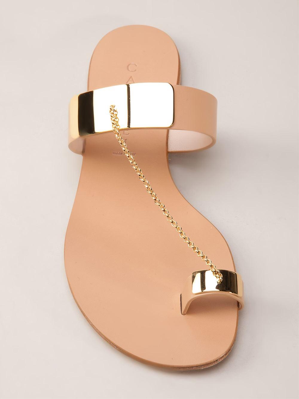 Casadei Gold Plated Sandal - Chuckies New York - Farfetch.com