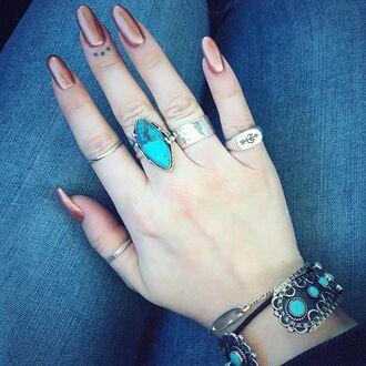 jewels shop dixi signet sterling silver ring boho bohemian