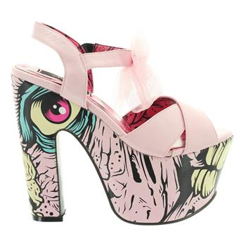 IronFist Sandalette DANCE ON YOUR GRAVE pink