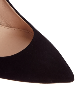 Whistles   Whistles French 65 Black Suede Court Shoes at ASOS