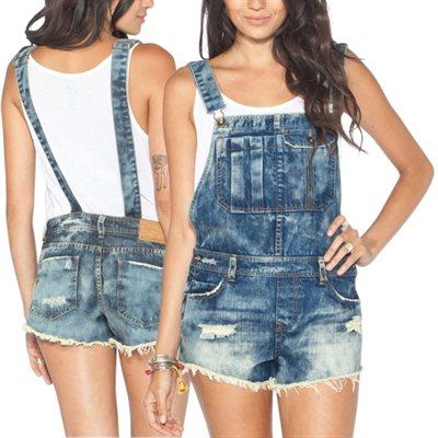 Billabong Ovah N Ovah Overall Shorts - Blue