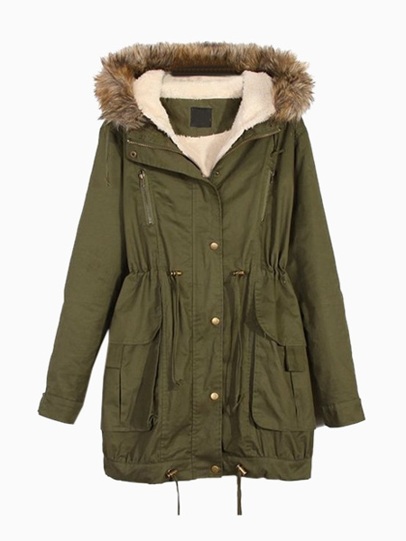 Oversize Fur Hooded Parka | Choies