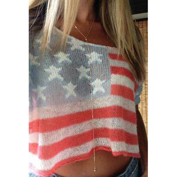 t-shirt ici fashion american flag american flag shirt american flag crop top icifashion jewels