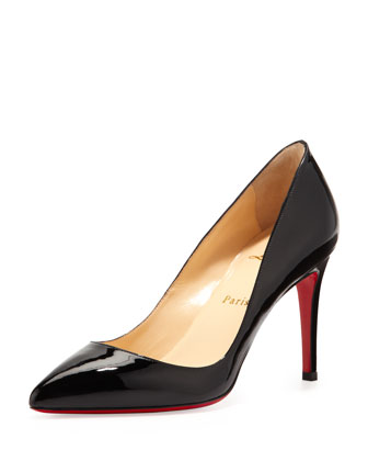 Christian Louboutin Pigalle Patent Red Sole Pump, Black - Neiman Marcus