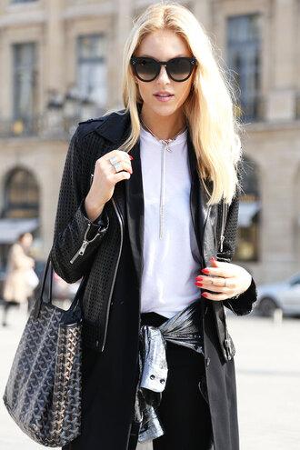 cheyenne meets chanel jacket shoes shirt jeans jewels bag sunglasses