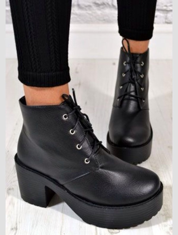 shoes chunky boots
