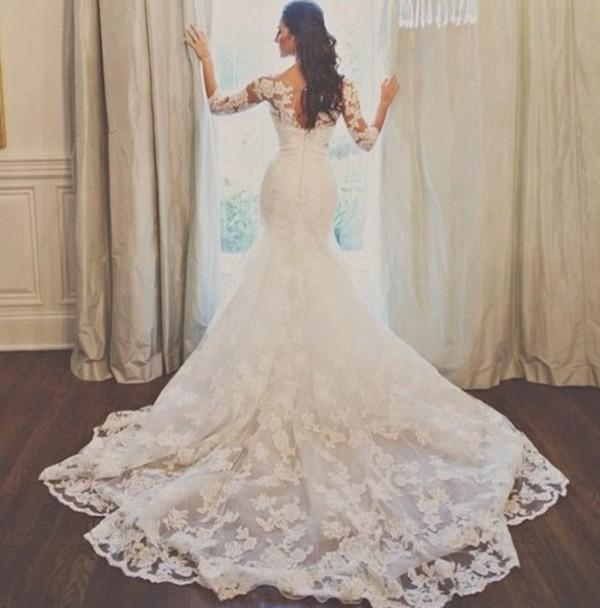 dress lace dress wedding clothes wedding dress lace wedding dress dress