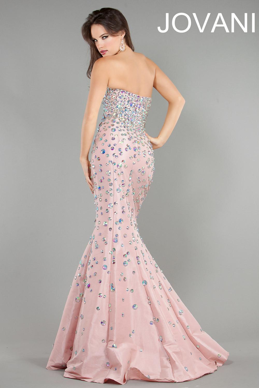 Strapless Jovani taffeta mermaid gown 944 : DressAccent, The Art of E-commerce