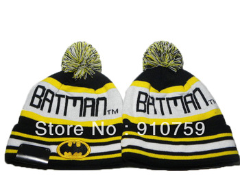 New Arrival BATMAN beanie hats Men's Cheap fashion caps black yellow-in Skullies & Beanies from Apparel & Accessories on Aliexpress.com