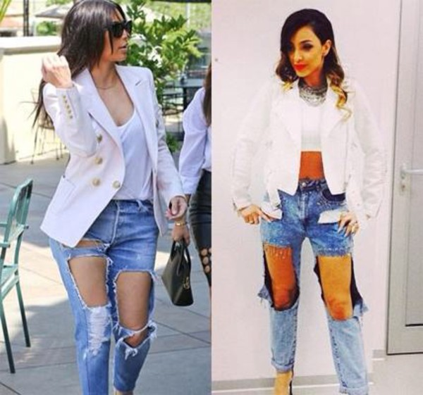 jeans kim kardashian maya serbia boyfriend jeans tight jeans tank top