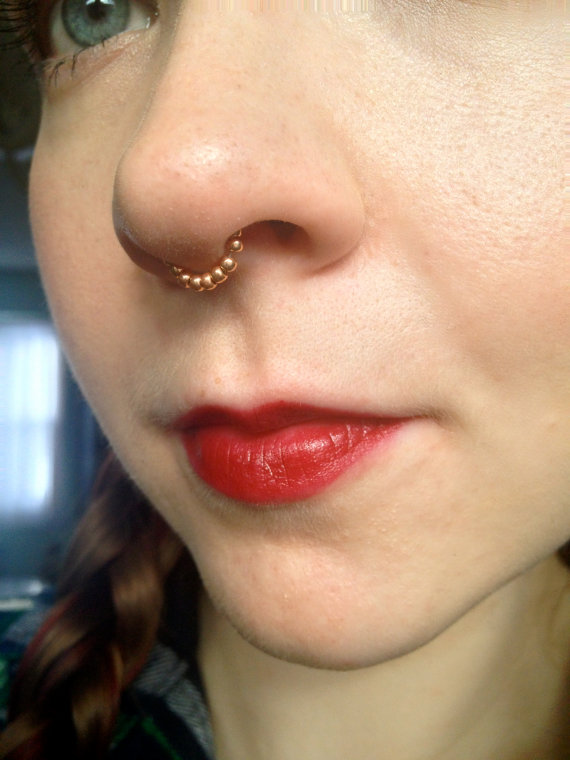 Septum beaded chain wrap style  different gauges by AndysChains