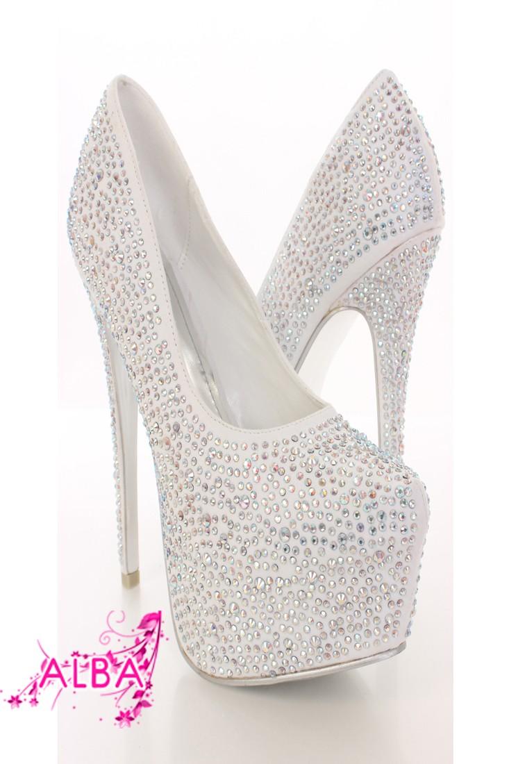 White Rhinestone Platform Pump Heels @ Amiclubwear Heel Shoes online store sales:Stiletto Heel Shoes,High Heel Pumps,Womens High Heel Shoes,Prom Shoes,Summer Shoes,Spring Shoes,Spool Heel,Womens Dress Shoes,Prom Heels,Prom Pumps,High Heel Sandals,Cheap Dr