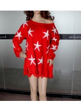 Star Chunky Sweater - Pullovers - Knitwears - Clothing