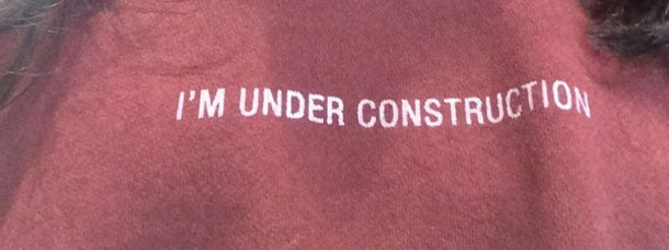 t-shirt construction under construction