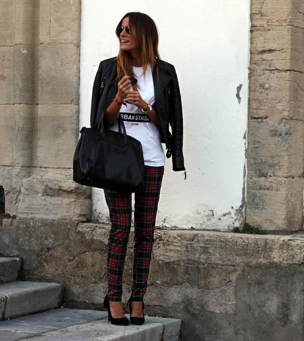 rebel attitude t-shirt pants jacket shoes bag