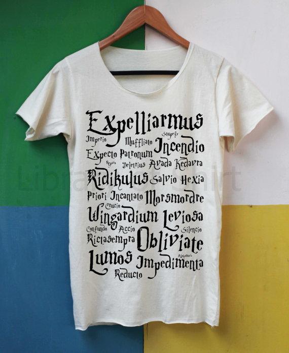 Magic Spell Shirt Harry Potter Spell Shirts by LibraryOfShirt
