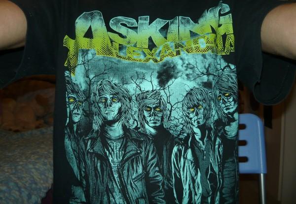 t-shirt black shirt asking alexandria asking alexandria blue night nightmare black t-shirt zombie