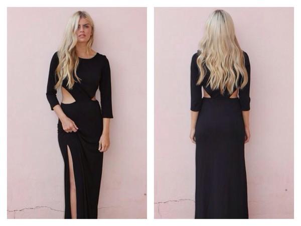 dress cut out maxi dress