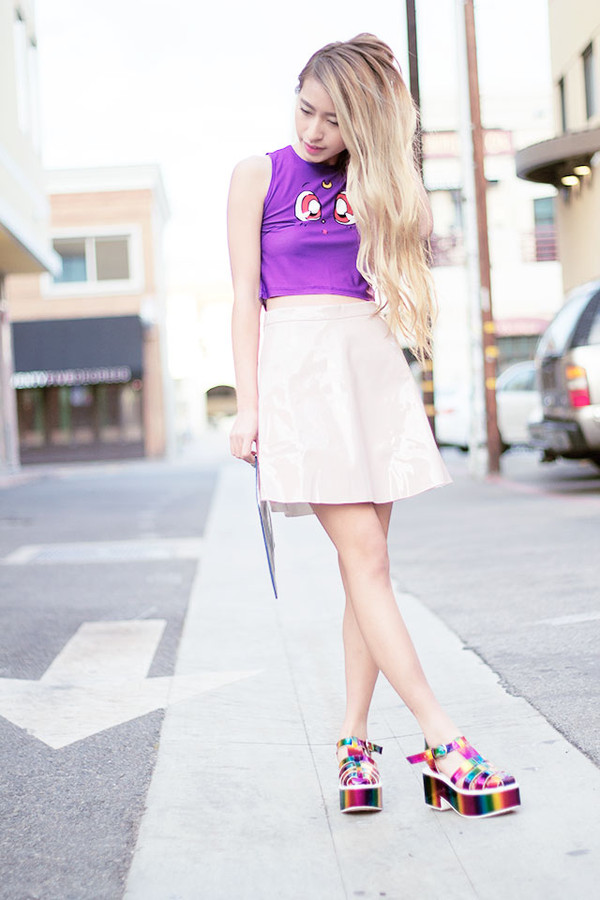 style2bones tank top bag skirt