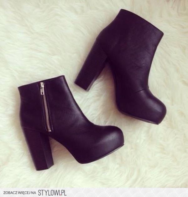 shoes black winter boots