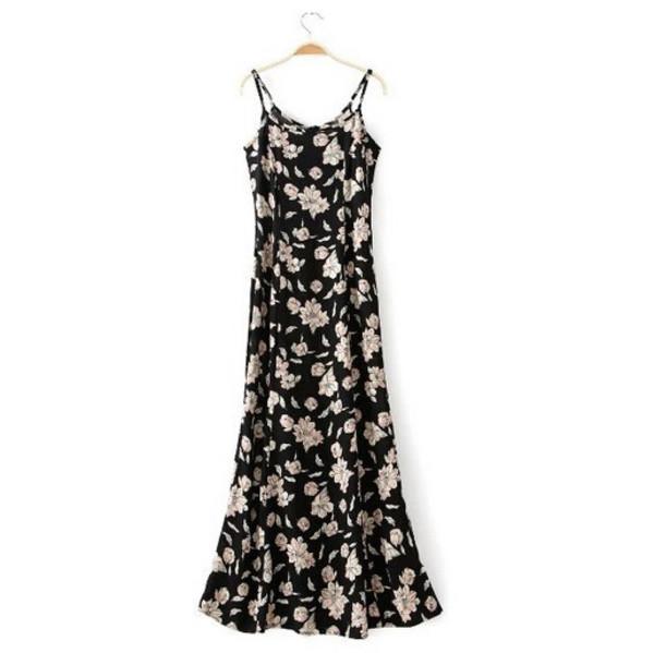 floral dress maxi dress summer outfits women clothes floral maxi dress