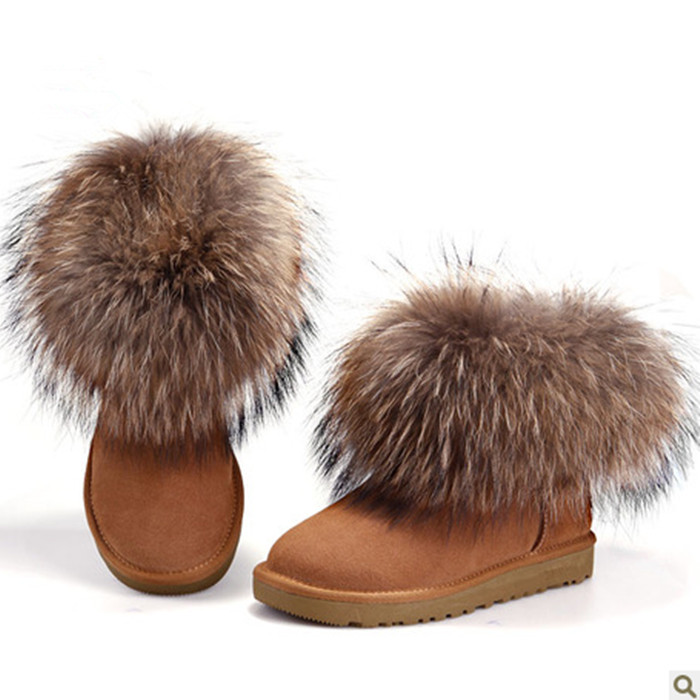 Freeshopping Waterproof 2013 women's slip resistant shoes Copy the fox fur boots snow boots( not ugglis)-inBoots from Shoes on Aliexpress.com