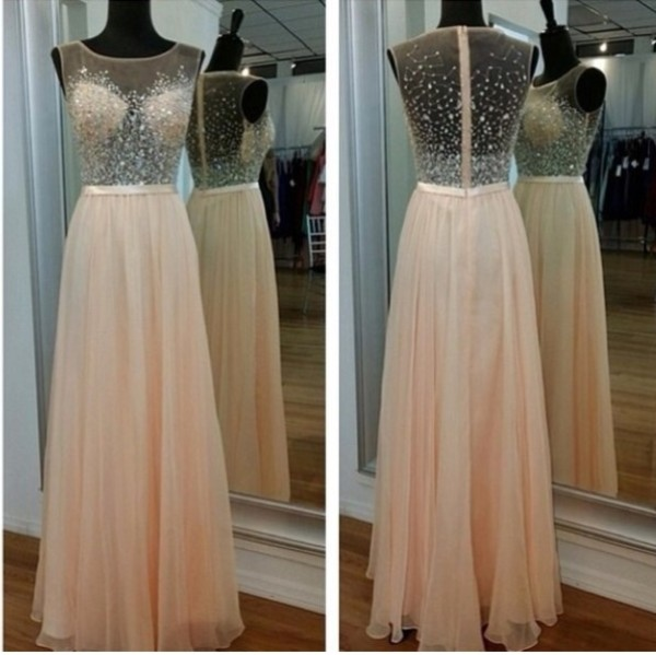 dress long prom dress beaded prom dress