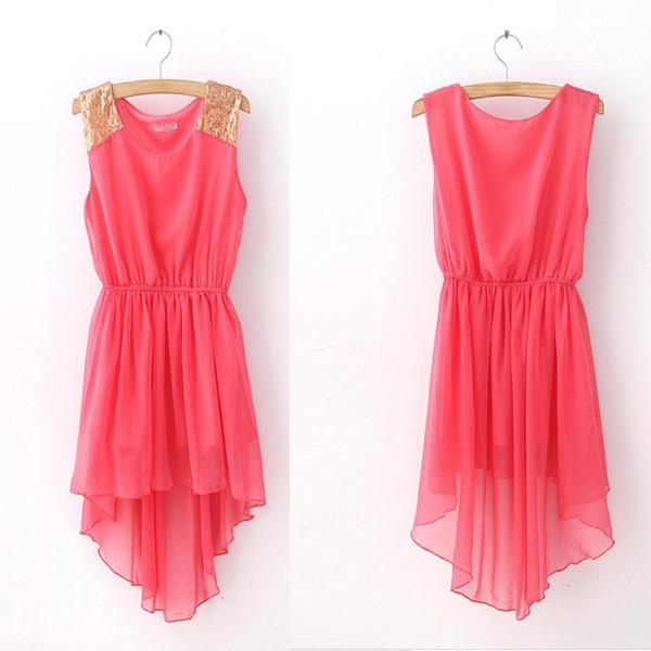 high low dress chiffon dress