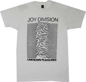 Buy White Joy Division Unknown Pleasures T-Shirt Tee Shirt Online