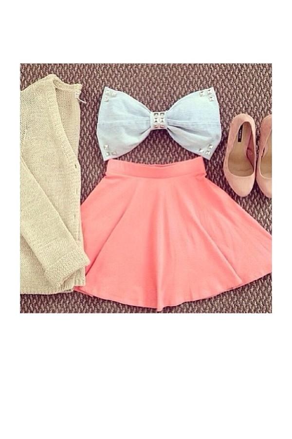 skirt coral skater skirt