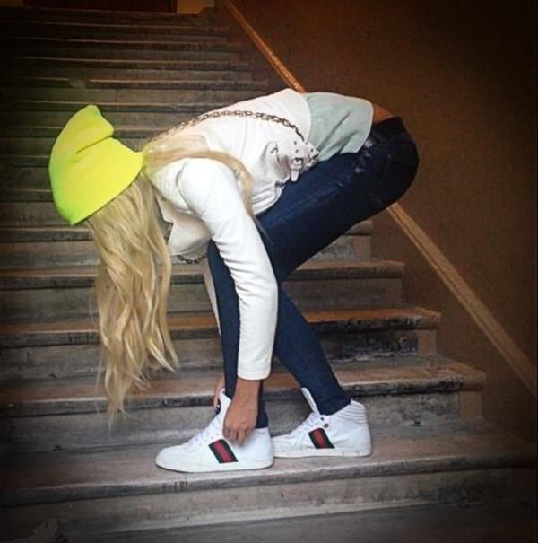 shoes gucci sneakers hat cap jeans pants jacket shirt