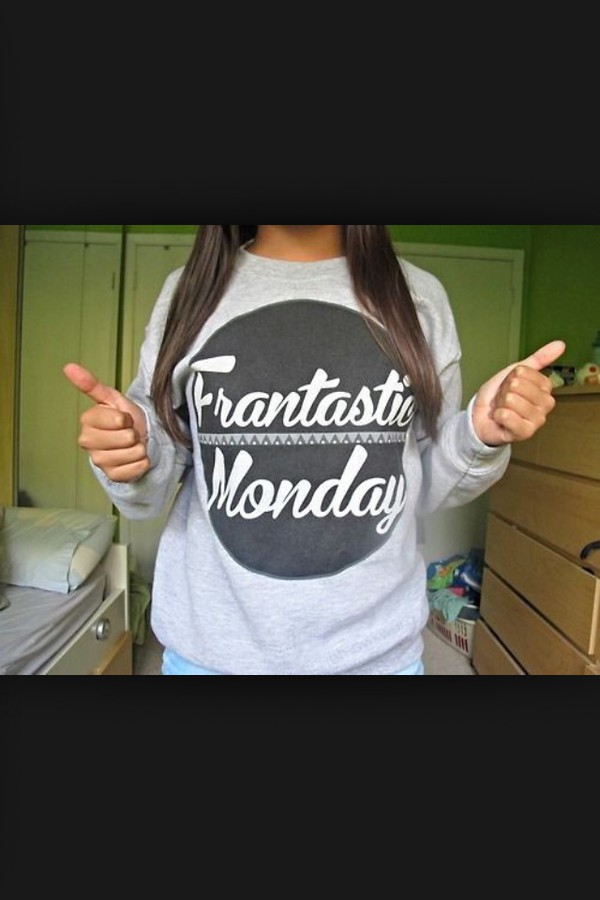 sweater frantastic monday connor franta grey sweater monday