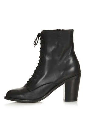 ABRA Lace Up Witch Boots - Heeled Boots - Boots  - Shoes - Topshop