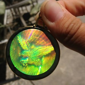 90s Grunge Holographic Gold Necklace Hippogriff Charm | eBay