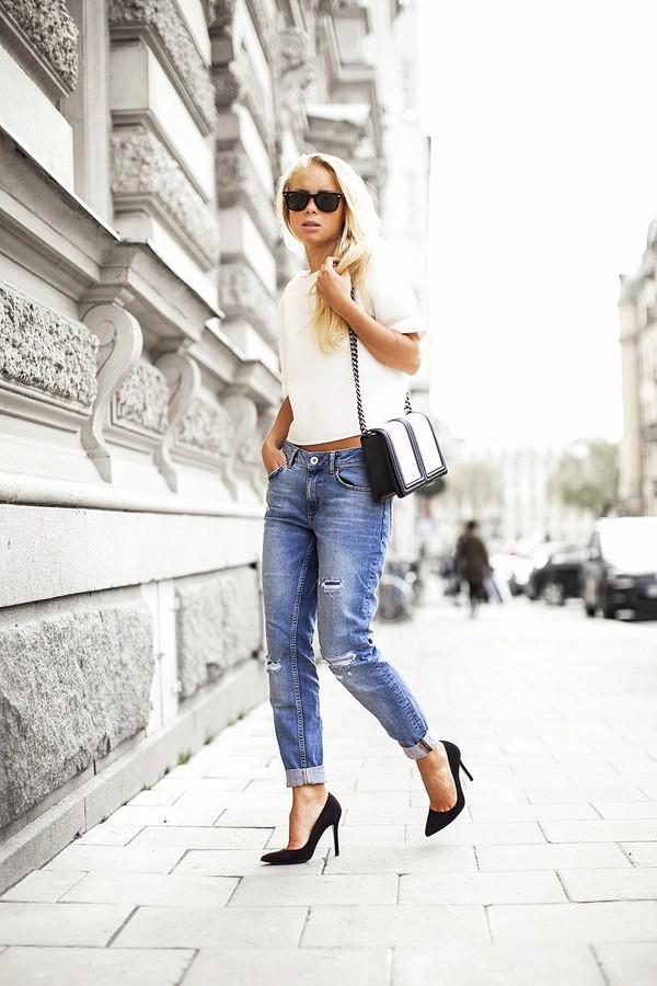victoria tornegren top jeans shoes bag