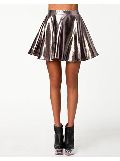 Metallic Skirt - Estradeur - Argent - Jupes - Vêtements - Femme - Nelly.com La Mode En Ligne Sur Internet