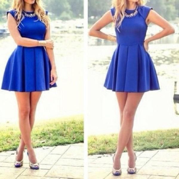 dress blue blue dress formal dress jewelry