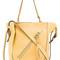 Chloé 'myer' tote, women's, yellow/orange, calf leather/calf suede/cotton
