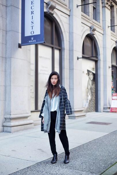 shirt blogger von vogue blouse formal checkered