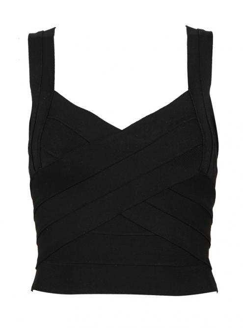 Black Personalized Fashion Wild Slim Bandage Vest H353$79