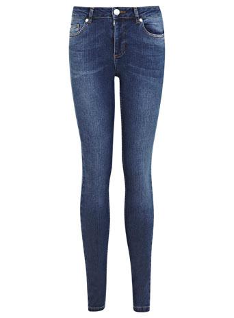 Dark Wash Authentic Jean - Jeans - Clothing - Miss Selfridge