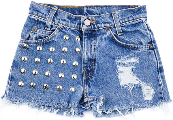 Distressed Studded Half                           | Spikes and Seams