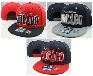 New Vintage Chicago Flat Bill Snapback Cap 3D Embroidery Chicago Bulls | eBay